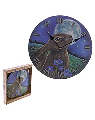 Fantasy Moon Gazing Hare Wall Clock