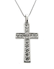 Crystal Set Cross Pendant
