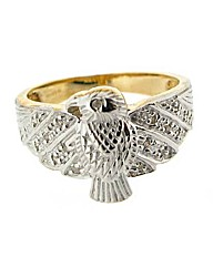 9ct Gents Diamond Set Eagle Ring