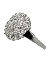 9ct WG 0.75ct Baguette Diamond Ring