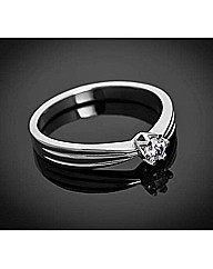 9ct WG 0.25ct Diamond Solitaire Ring