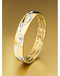 Gold Plated Silver Footprints Ring