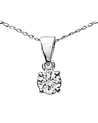 18ct White Gold 0.25Ct Diamond Pendant