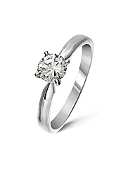 18ct White Gold 0.5 Carat Diamond Ring