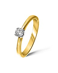 18ct Yellow Gold 0.25 Carat Diamond Ring
