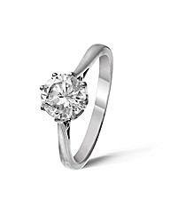 9ct White Gold 1Ct Diamond Ring