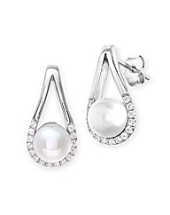 Sterling Silver 0.3Ct CZ Earrings