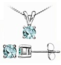 White Gold 0.32 Carat Aquamarine Earring