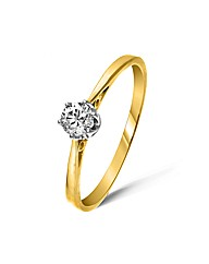 9ct Yellow Gold 0.2 Carat Diamond Ring