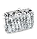 Jon Richard Silver Diamante Clutch Bag