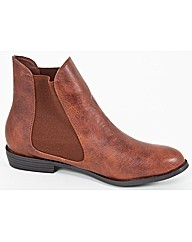 Strawberry Faux Leather Chelsea Boot