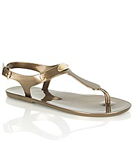Michael Kors Plate Jelly Toe Post