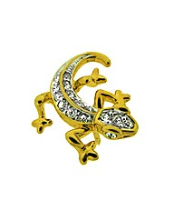Crystal Set Lizard Lapel