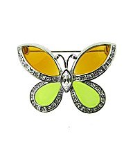 Stone Set Butterfly Brooch