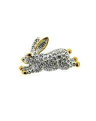 Crystal Set Rabbit Brooch