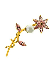 Gold Plated Flower Brooch