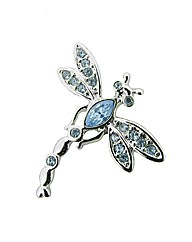 Crystal Set Dragonfly Lapel