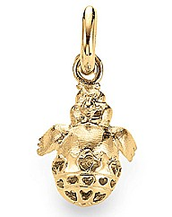 Gold Plated Silver Bird in Egg Charm