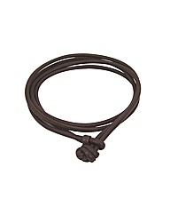 Dark Brown Leather 56cm Wrap Bracelet
