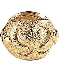 Gold Plated Matt Silver Bracelet Charm