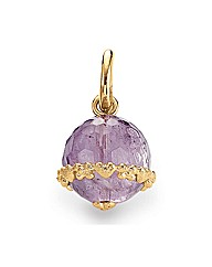 Gold Plated Silver Amethyst Charm