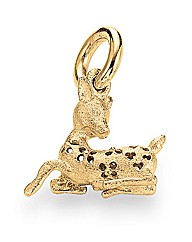 Gold Plated Matt Silver Bambi Charm
