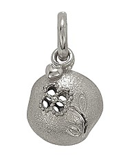 Sterling Silver Flower Shine Charm