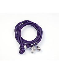 Dark Purple Leather 56cm Wrap Bracelet