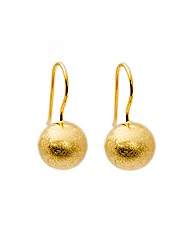 Sterling Silver Gold Plated Ball Drops