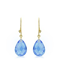 9ct Yellow Gold Blue Earrings