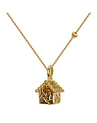 Gold Plated House Pendant on Chain