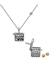 Sterling Silver Heart Box Pendant