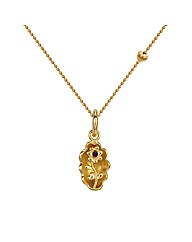 Gold Plated Silver Flower Pendant