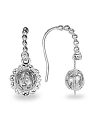 Blossom Rhodium Plated Silver Earrings