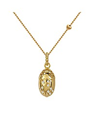 Gold Plated Silver CZ Drop Pendant
