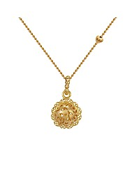 Gold Plated Sterling Silver Ball Pendant