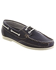 Chatham Izzy Lace Up Canvas Boat Shoe