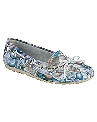 Riva Wells Flower Print Womens Shoes