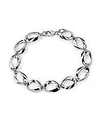 Twisted Open Oval Bracelet