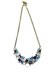 Glass Stone Statement Necklace