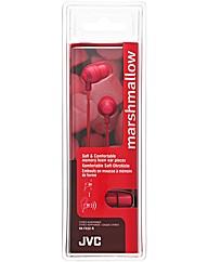 JVC Marshmallow Headphones (Red)