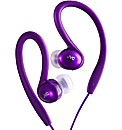 JVC Sports Ear Clip Headphones (Violet)