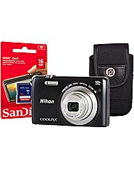 Nikon Coolpix S6700 Black Camera Kit