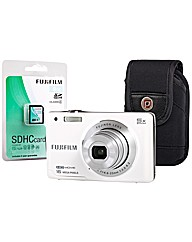 Fuji FinePix JX650 White Camera Kit