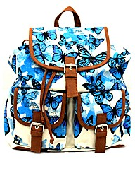 Lili B Butterfly Print Backpack