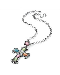 Petal Dolls Cross Necklace
