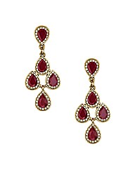 Mood Burgundy Chandelier Earring