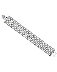 Mood Wide Diamante Crystal Bracelet