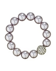 Mood Lilac Pearl Stretch Bracelet