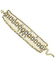 Mood Pearl Multi Row Chain Bracelet
